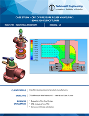 CFD of Pressure Relief Valve (PRV) – 1800 & 500 Cubic Ft.min