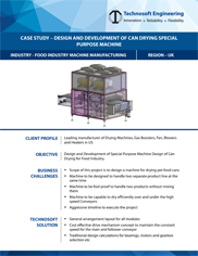 Design And Development Of Can Drying Special