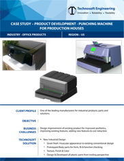 Product Development - Punching Machine for Production Houses