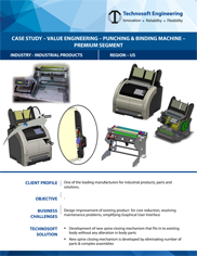 Value Engineering – Punching & Binding Machine – Premium Segment