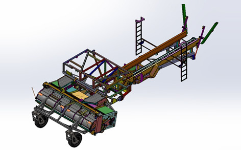 Design And Development Support System For The Head To Be Used When The Combine Travels On The Road